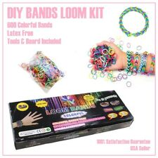 DIY Loom Bands Rubber Band Friendship Bracelet w/ 600 Rubber Bands Tool & Board