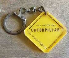 Caterpillar Tractors & Heavy Machinery Vintage Israel Hebrew Plastic Keychain