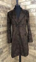 Renfrew Dark Brown Faux Fur Fitted Jacket Women's Size 6