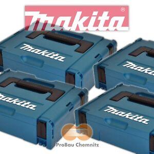 4 x Makita MAKPAC Gr. 1, Systainer Koffer leer, 395x295x110mm, 821549-5