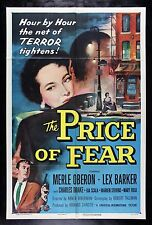 THE PRICE OF FEAR * CineMasterpieces ORIGINAL 1SH NM C9 MOVIE POSTER 1956