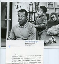 EMMANUEL LEWIS BEN VEREEN PORTRAIT WEBSTER ORIGINAL 1984 ABC TV PHOTO