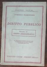 Diritto Pubblico - Domenico Tramontana - Cetim,1963 - A