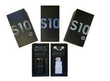 Original Samsung Galaxy S10e S10 S10+ Retail Box & OEM All Accessories Included
