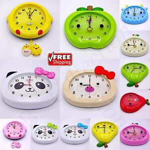 New Wall Clocks Large Numerals Home Room Decor Clock For Babies Boys Girls Gift