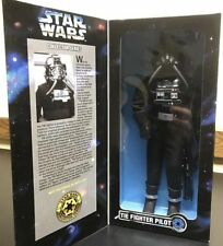 "1997 STAR WARS Collector Series Tie Fighter Pilot 12"" Action Figure MIB"
