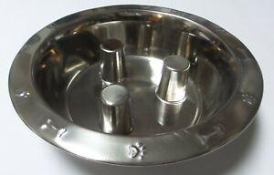 Brake-Fast Stainless Steel Embossed Dog Pet Food Bowl 96 OZ / 3 Quart – Large