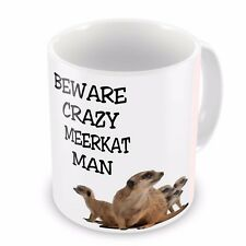 birthday//wedding//fathers day// gift,PERSONALISED 019 Meerkats mug Novelty..funny