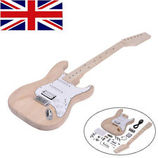 More details for st electric guitar diy kit build your own guitar basswood body maple fingerboard