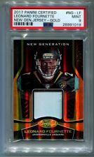 2017 Panini Certified Leonard Fournette Gold Rookie Patch 24/25 PSA 8 NM-MT