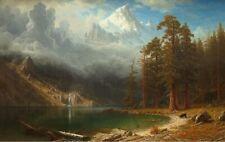 """Albert Bierstadt Mount Corcoran Giclee Canvas Print 20""""x32"""""""