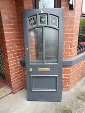 Old Victorian Stained Glass Front Door.
