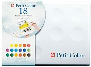 Sakura Color Products Paint Solid Watercolor Petit Color 18color NCW-18H with p
