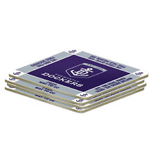 Fremantle Dockers AFL 4 Pack Coasters Coaster **AFL OFFICIAL MERCHANDISE**