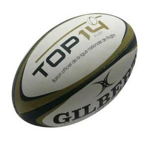 GILBERT top 14 replica rugby ball [white/black/gold] - Size 5