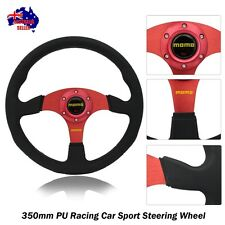 Racer 350mm RED Racing Car Sport Steering Wheel