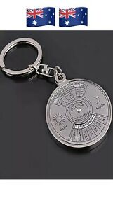 50 Years Perpetual Calendar Key Ring Time Month Day Display KeyChain Keyring AUS
