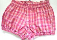 The Children's Place Girls' Plaids Pink Cotton Bubble Shorts Size 4T