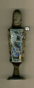Sterling & Glass Salt Shaker Marked Sterling ,C. 1900 , Wt. 50Gr., Scarce (OOAK)