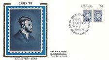 Canada FDC Sc # 753/55/56 3 Capex 78 covers w/ Colorano Silk cachet- WW7298