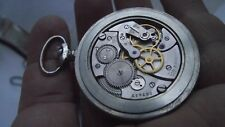 MOLNIJA VINTAGE RUSSIAN pocket Watch 16 Jewels mechanism 3608® - train. RARE.