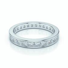 Best Seller..!! 1.50Ct Princess Diamond Full Eternity Ring Made in White Gold