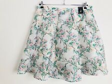 Ladies PRIMARK Skirt Midi Floral Party Occasion Wedding Size 18 White/Green/Pink