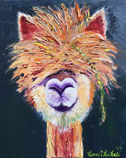 "Lama 16""x20"" Limited Edition Oil Painting Print Signed Art by Artist Home Decors"