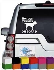 Border Terrier On Board Vinyl Car, Van, 4x4 Window Sticker / Decal / Graphic