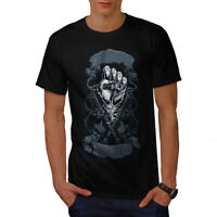 Wellcoda Hand Evil Scary Mens T-shirt, Gothic Graphic Design Printed Tee