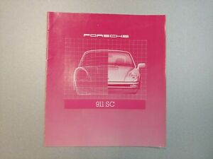 NICE ORIGINAL VINTAGE PORSCHE 911SC PINK COLOR SALES BROCHURE 1980