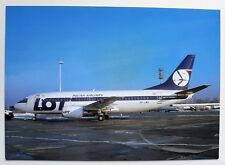 LOT Polish Airlines Boeing 737 postcard