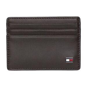 Tommy Hilfiger Wallet - Leather Card Holder - Black, Brown - BNWT