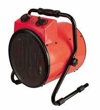 Ventilador Calefactor Industrial 3 kW Eléctrico Taller Garaje Cobertizo red Soplador Aire Caliente