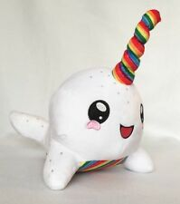 rainbow narwhal plush toy narwhal stuffed animal whale plush