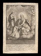 santino incisione 1700 S.TERESA D'AVILA