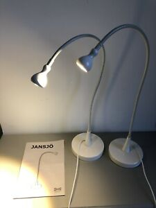 Ikea Jansjo Desk Lamps Pair Off-white