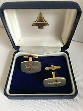 Eurofighter Cufflinks Brushed Silver Tone Gold Plated Boxed British Aerospace