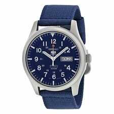 Seiko Blue Nylon Strap Mens Watch SNZG11K1