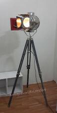 Designer Antique Style Spotlight Grey Tripod Floor  Lamp