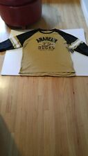 Anaheim Ducks NHL XL LS Sweatshirt Distressed Vintage Look Blk Tan Logos