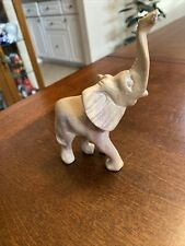 Vntg Carved Soapstone Elephant Trunk Up 5�x4�- Great Condition