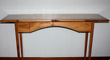 "50"" Rustic Primitive wood wooden Long Tall Couch Wall Side plant Foyer Table"