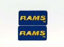 """Set of 2 Vintage Los Angeles LA Rams 3.5"""" Wide Block Patch (Iron or Sew On)"""