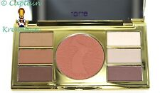 TARTE AMAZONIAN CLAY EYE & CHEEK PALETTE & DOUBLE ENDED EYESHADOW BRUSH NEW