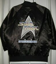 Star Trek 25th Anniversary Satin Jacket 1997 Size L Large Black Embroidered READ