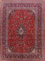 Traditional Hand-Knotted Ardakan Vintage Floral Area Rug Oriental Carpet 9'x13'