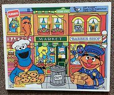 Vintage Playskool Sesame Street Wooden Peg Puzzle. People In My Neighborhood.