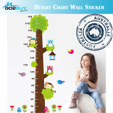 Wall Stickers Removable Owl Tree Monkey Height Kids Nursery Decal Growth Chart