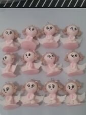 12 pcs Angel Girl pink &  White Baptism First Communion handmade Favor Migajon